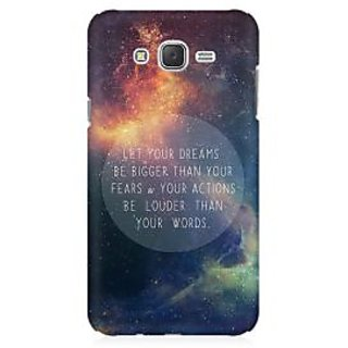RAYITE Dream Big Premium Printed Mobile Back Case Cover For Samsung J1 2016 Version