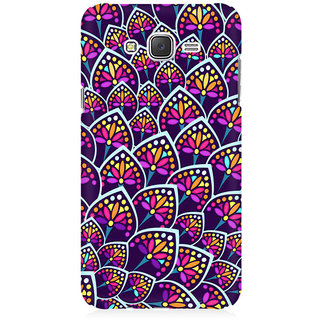 RAYITE Geometric Leaf Premium Printed Mobile Back Case Cover For Samsung J1 Ace