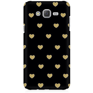 RAYITE Black Hearts Premium Printed Mobile Back Case Cover For Samsung J1 Ace