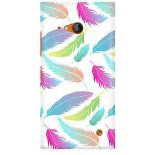 RAYITE Colourful Leafy Pattern Premium Printed Mobile Back Case Cover For Nokia Lumia 730