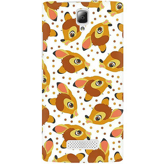 RAYITE Deer Pattern Premium Printed Mobile Back Case Cover For Lenovo A2010