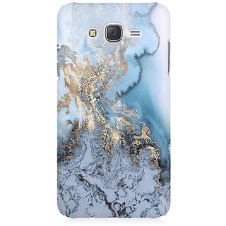 RAYITE Gold Sea Marble Premium Printed Mobile Back Case Cover For Samsung J1 2016 Version