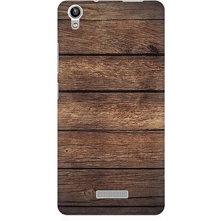 RAYITE Classic Wood Premium Printed Mobile Back Case Cover For Lava Pixel V1