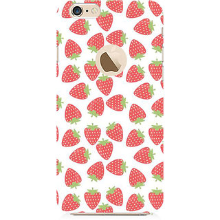 RAYITE Strawberry Pattern Preum Printed Mobile Back Case Cover For   6-6s With  Hole