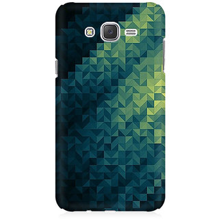 RAYITE Blue Geometric Pattern Premium Printed Mobile Back Case Cover For Samsung J1 2016 Version
