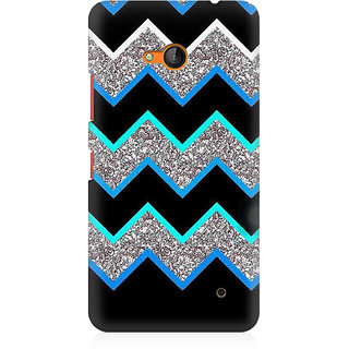 RAYITE Dark Chevron Glitter Print Premium Printed Mobile Back Case Cover For Nokia Lumia 640