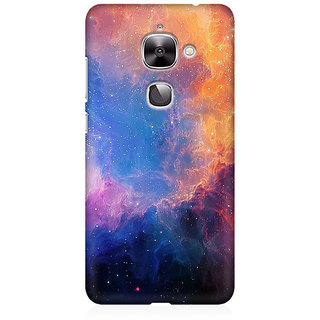 RAYITE Galaxy Glitter Print Premium Printed Mobile Back Case Cover For LeEco Le 2