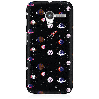 RAYITE Space Pattern Premium Printed Mobile Back Case Cover For Moto X