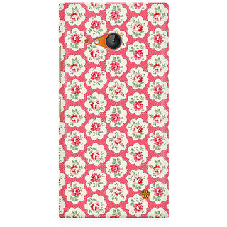 RAYITE Rose Flower Pattern Premium Printed Mobile Back Case Cover For Nokia Lumia 730