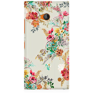 RAYITE Flower Abstract Premium Printed Mobile Back Case Cover For Nokia Lumia 730