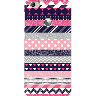 RAYITE Glitter Print Aztec Pattern Premium Printed Mobile Back Case Cover For LeEco Le 1s