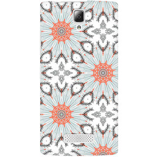 RAYITE Floral Abstract Premium Printed Mobile Back Case Cover For Lenovo A2010