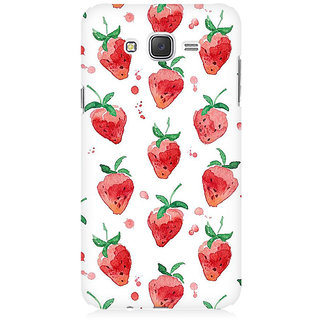 RAYITE Watercolor Strawberry Premium Printed Mobile Back Case Cover For Samsung J1 2016 Version