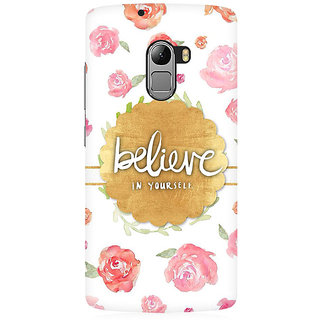 RAYITE Believe In Yourself Premium Printed Mobile Back Case Cover For Lenovo A7010