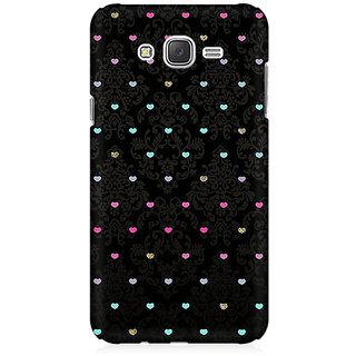 RAYITE Little Hearts Pattern Premium Printed Mobile Back Case Cover For Samsung J1 Ace