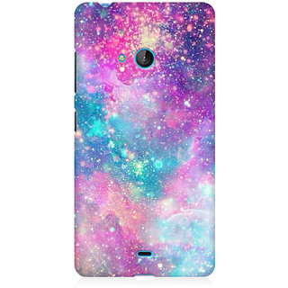 RAYITE Galaxy Print Premium Printed Mobile Back Case Cover For Nokia Lumia 540