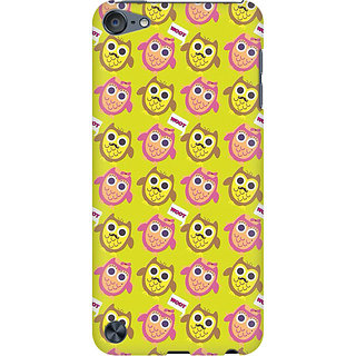 RAYITE Hoot Owl Pattern Preum Printed Mobile Back Case Cover For  IPod Touch 5