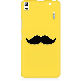RAYITE Classic Mustache Print Premium Printed Mobile Back Case Cover For Lenovo A7000