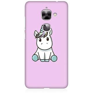 RAYITE Cute Unicorn Premium Printed Mobile Back Case Cover For LeEco Le 2
