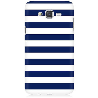 RAYITE White And Blue Premium Printed Mobile Back Case Cover For Samsung J1 Ace