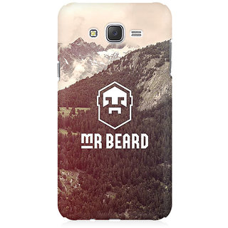RAYITE Mr Beard Premium Printed Mobile Back Case Cover For Samsung J1 Ace