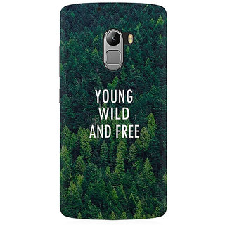 RAYITE Young Wild And Free Premium Printed Mobile Back Case Cover For Lenovo A7010
