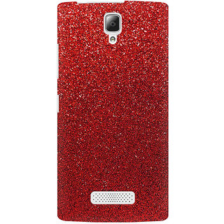 RAYITE Red Glitter Print Premium Printed Mobile Back Case Cover For Lenovo A2010