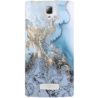 RAYITE Gold Sea Marble Premium Printed Mobile Back Case Cover For Lenovo A2010