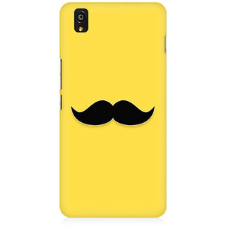 RAYITE Classic Mustache Print Premium Printed Mobile Back Case Cover For OnePlus X