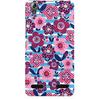 RAYITE Floral Art Premium Printed Mobile Back Case Cover For Lenovo A6000