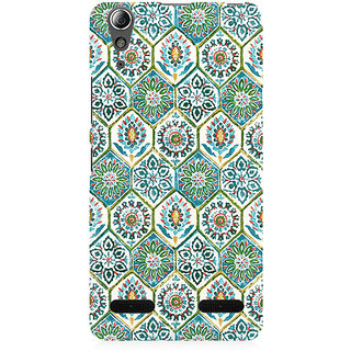 RAYITE Vintage Embroidery Pattern Premium Printed Mobile Back Case Cover For Lenovo A6000