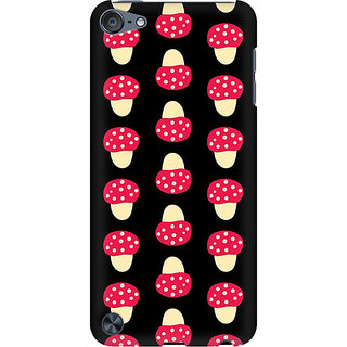 RAYITE Mushroom Pattern Preum Printed Mobile Back Case Cover For  IPod Touch 5