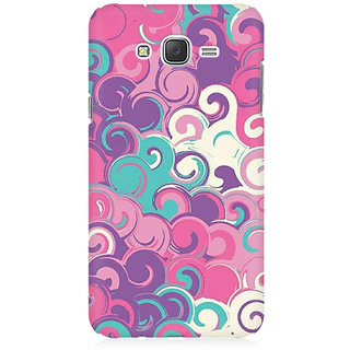 RAYITE Colourful Waves Premium Printed Mobile Back Case Cover For Samsung J1 Ace