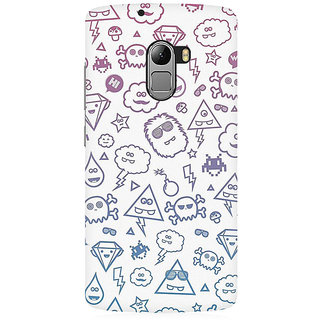 RAYITE Emoji Symbols Premium Printed Mobile Back Case Cover For Lenovo A7010