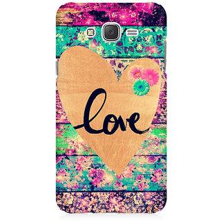 RAYITE Love Premium Printed Mobile Back Case Cover For Samsung J3