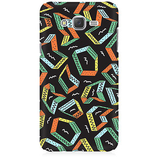RAYITE Colourful Pattern Premium Printed Mobile Back Case Cover For Samsung J3