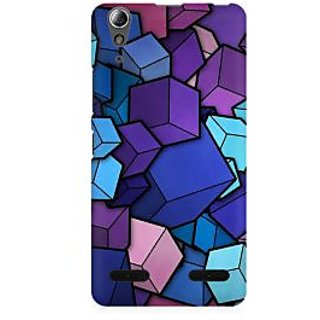 RAYITE 3D Cubes Premium Printed Mobile Back Case Cover For Lenovo A6000