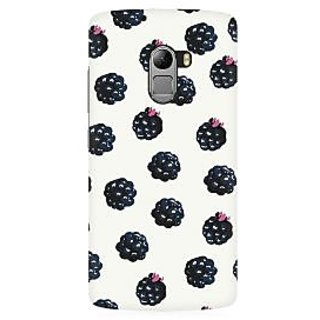 RAYITE Black Berry Premium Printed Mobile Back Case Cover For Lenovo A7010