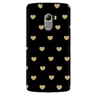 RAYITE Black Hearts Premium Printed Mobile Back Case Cover For Lenovo A7010