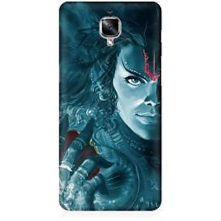 RAYITE Lord Shiva Premium Printed Mobile Back Case Cover For OnePlus Three