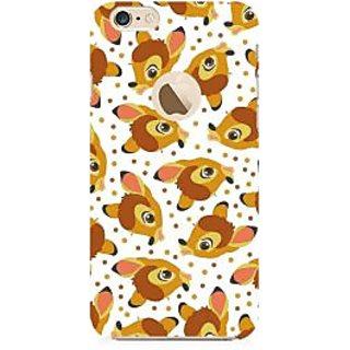 RAYITE Deer Pattern Premium Printed Mobile Back Case Cover For Apple IPhone 6-6s With Apple Hole