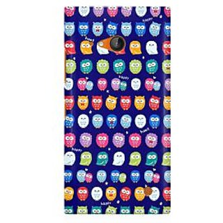 RAYITE Tiny Owl Pattern Premium Printed Mobile Back Case Cover For Nokia Lumia 730