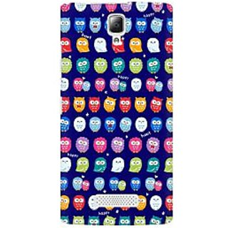 RAYITE Tiny Owl Pattern Premium Printed Mobile Back Case Cover For Lenovo A2010