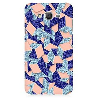 RAYITE 3D Geometric Box Art Premium Printed Mobile Back Case Cover For Samsung J1 Ace