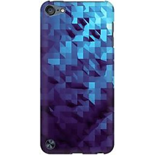 RAYITE Blue Geometric Art Premium Printed Mobile Back Case Cover For Apple IPod Touch 5