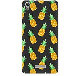 RAYITE Geometric Pineapple Premium Printed Mobile Back Case Cover For Lava Pixel V1