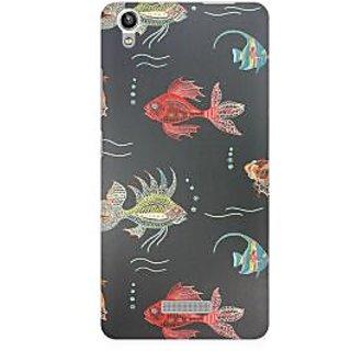 RAYITE Fish Premium Printed Mobile Back Case Cover For Lava Pixel V1