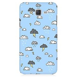 RAYITE Cute Cloud Premium Printed Mobile Back Case Cover For Samsung J2