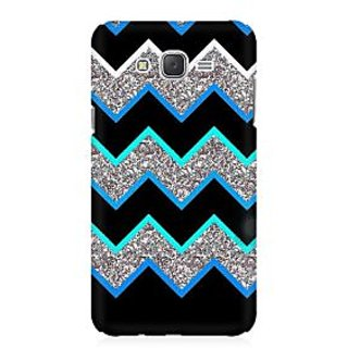 RAYITE Dark Chevron Glitter Print Premium Printed Mobile Back Case Cover For Samsung J1 2016 Version