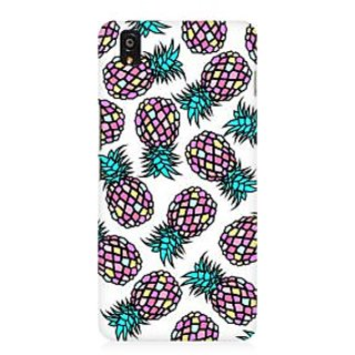 RAYITE Geometric Retro Pineapple Premium Printed Mobile Back Case Cover For OnePlus X